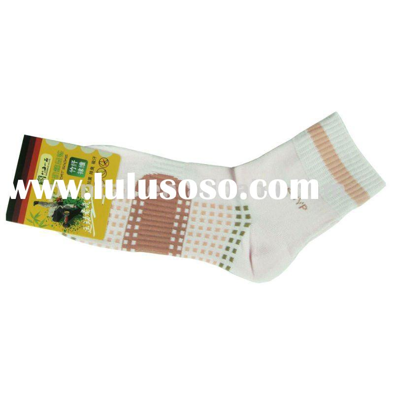 NO MOQ !! Bamboo Fiber Ladies Sport Socks (OEM or ODM service)