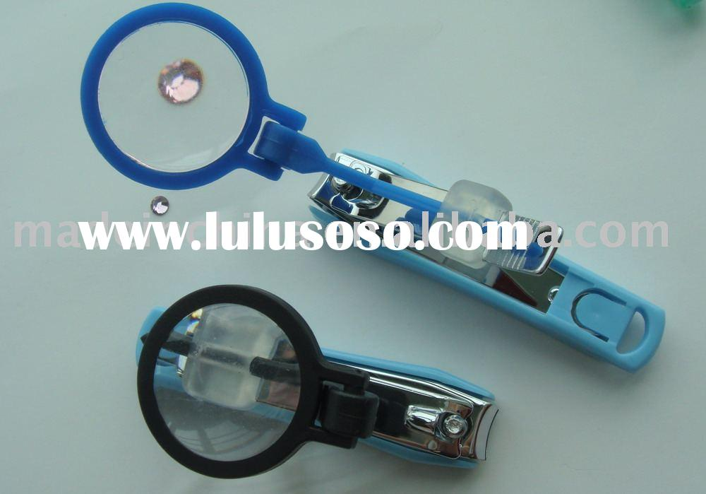 Nail Clippers With Magnifying Glass