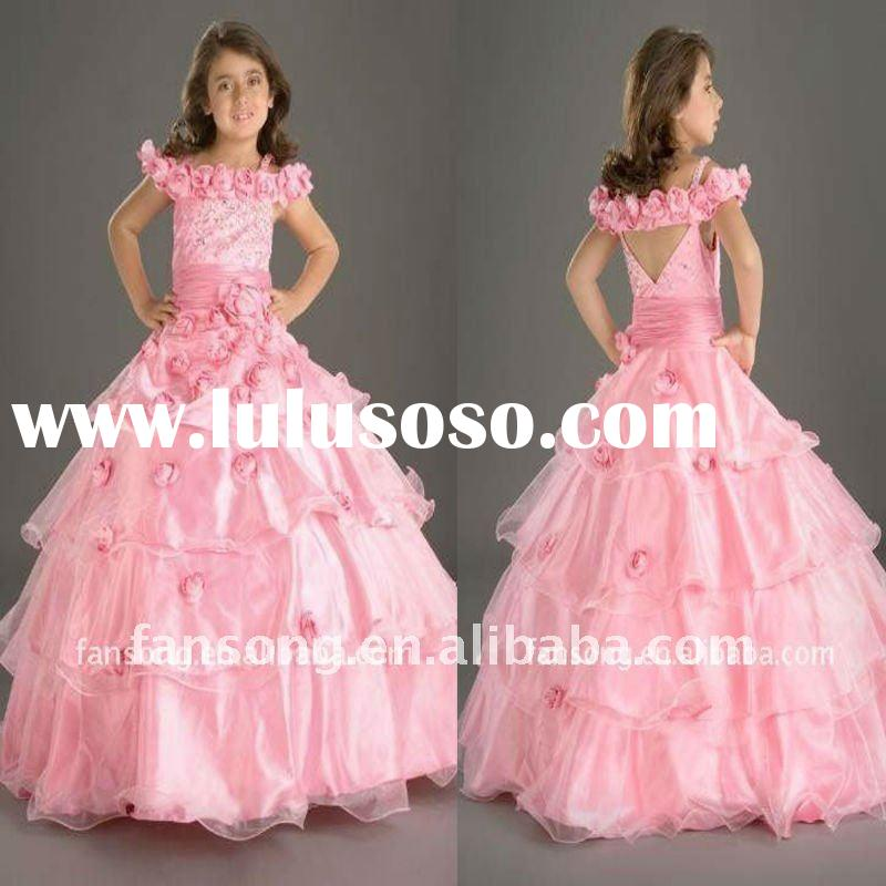 New arrival off-shoulder ball gown flower girl dress 2011