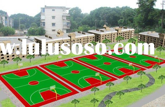 Outdoor Basketball Court Suspended Interlocking Sports Flooring,Basketball Court Venues Construction