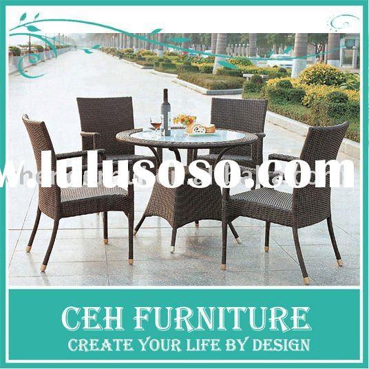 Outdoor furniture garden chairs and table set