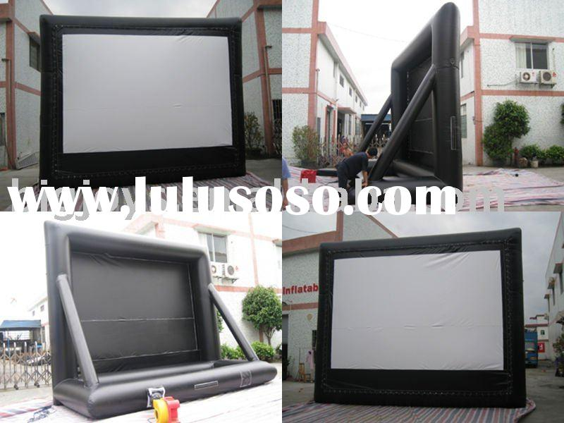 Outdoor inflatable advertisement screen,inflatable movie screen