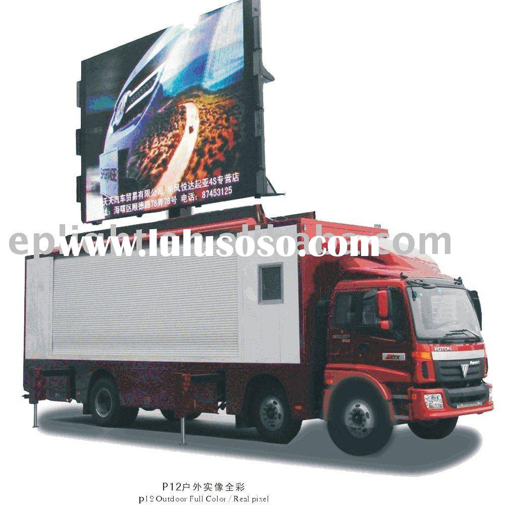 P10 car mobile full color advertising LED video display/video wall/LED screen/big LED TV/advertising
