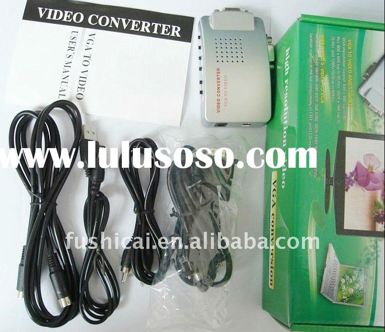 PC MAC VGA to TV AV Composite RCA S-Video Converter Box