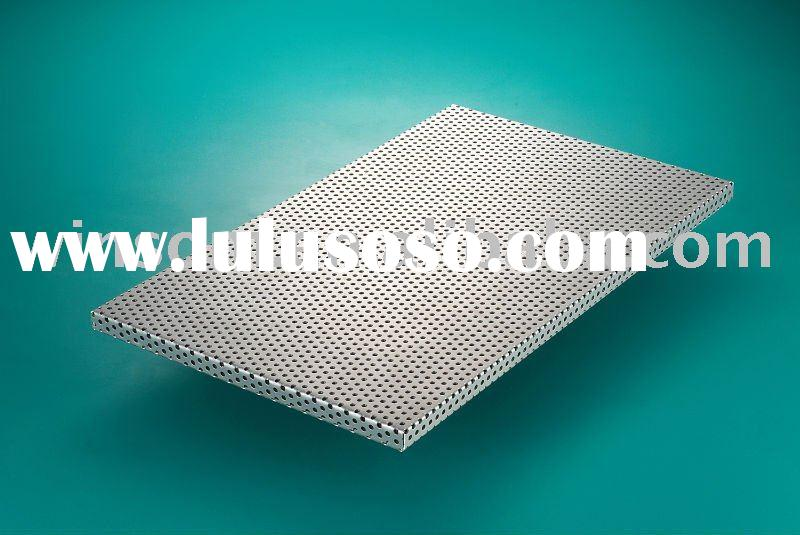 Perforated acoustic ceiling panel