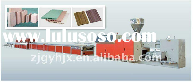 Plastic Sheet/Board Making Machinery Plastic and wood foamed profile and plate extrusion line