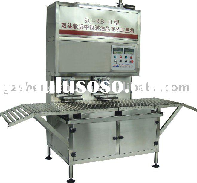 Plastic bag cooking oil filling and capping machine