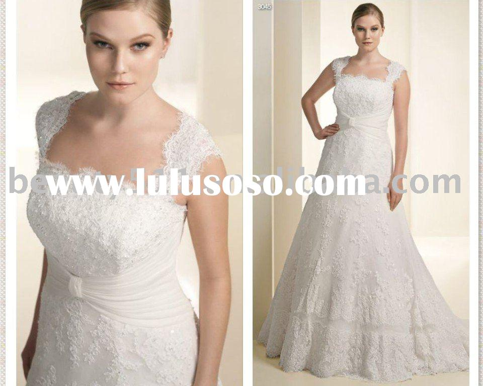 Plus size wedding dress strapless detachable strap designer wedding dresses bridal gown WDY-104