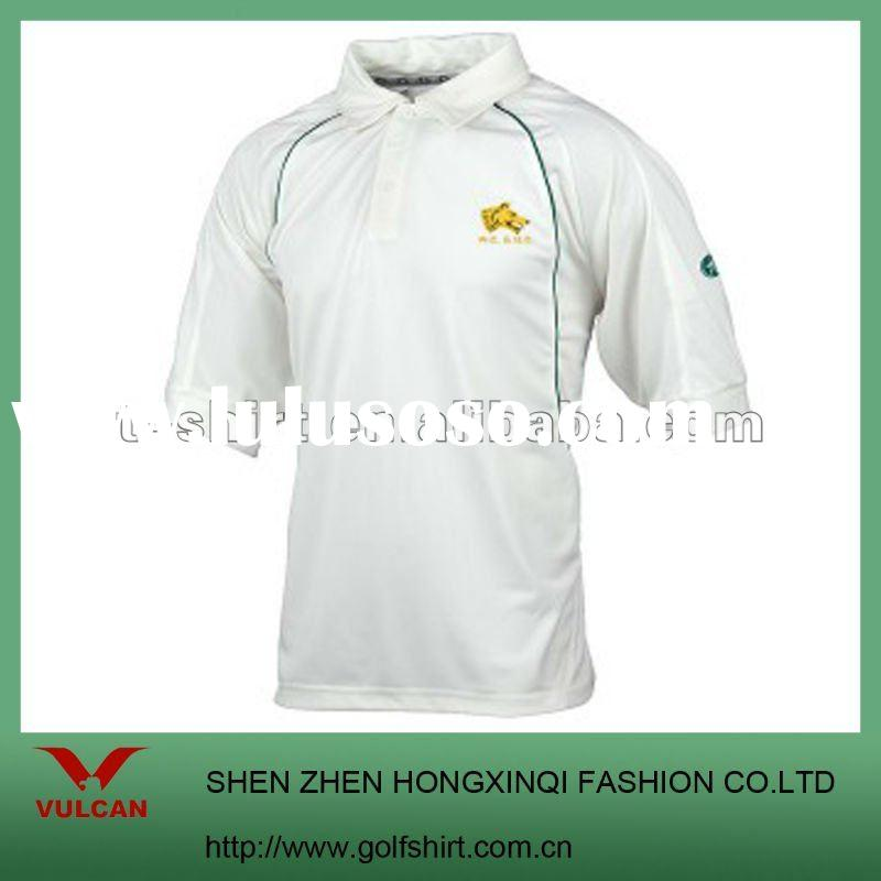 Popular dry fit short sleeve Cricket shirts with custom design