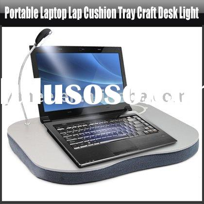 Portable Laptop Lap Cushion Tray Craft Desk Light,YAN106A