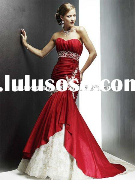 Red Wedding Dress for Bride red and white wedding dresses designer wedding dresses