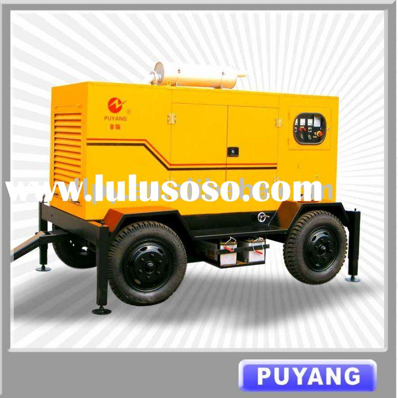 Reliable quality Trailer type 45kW to 450kW off-road diesel generator set with ATS and AMF in stock