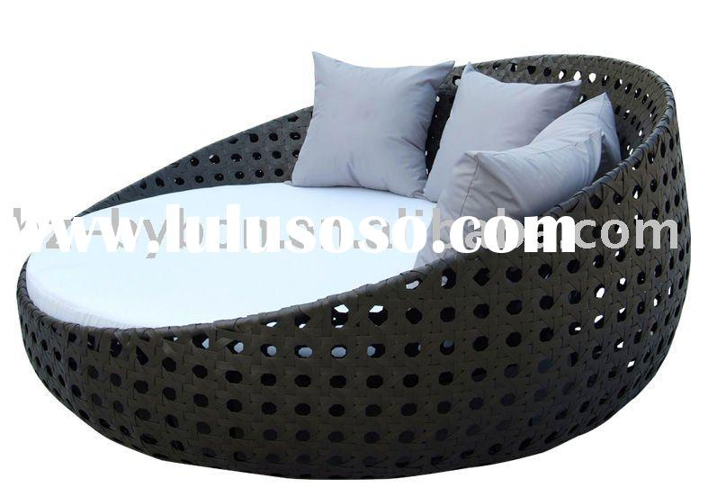 resin wicker daybed outdoor furniture 2