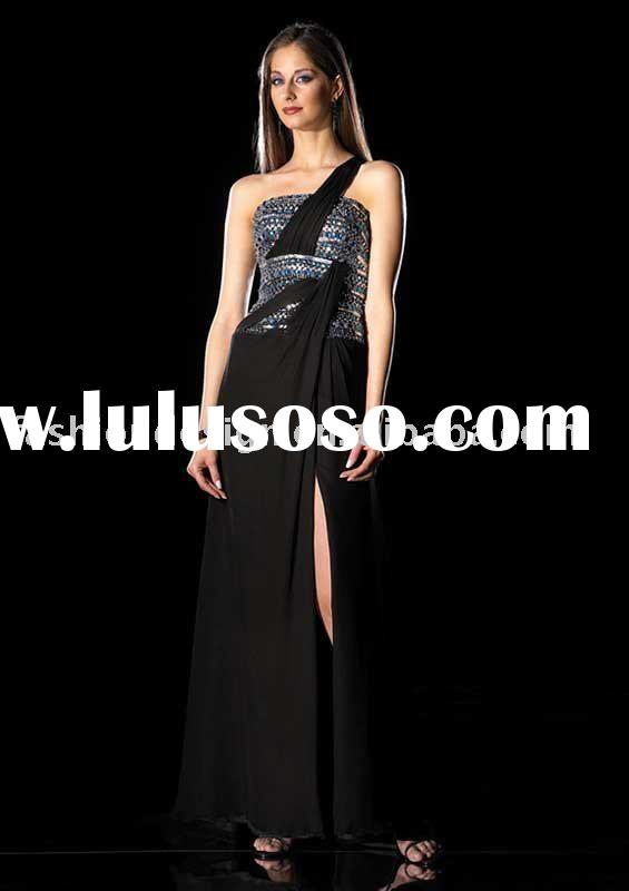 SAN087 One shoulder Floor length Prom Dress