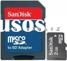 Sandisk 2GB MicroSD card Memory Card (micro sd card ) with adapter item no. SDSDQB-002G MOQ 1200bulk