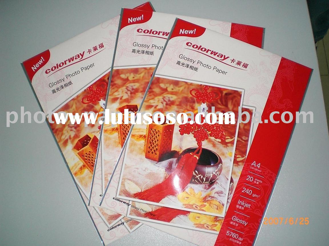 Self-adhesive high glossy photo paper /stick