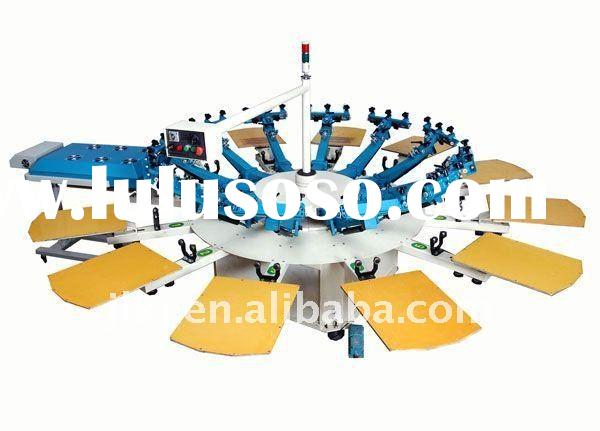 Semi-automatic T-shirt silk screen printing machine( 8 color)