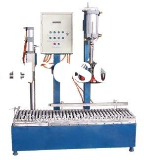 Semi-automatic weighting, filling and packaging machine