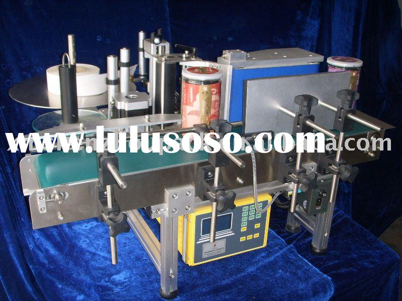 Semiautomatic Wrap Around Adhesive Sticker Labeling Machine for Round Bottle Container