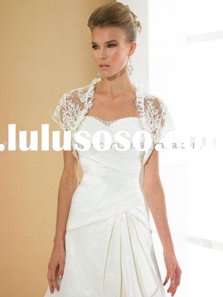 Short Sleeve Lace Wedding Jacket/Bridal Bolero