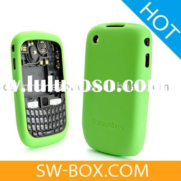 Silicone Skin Case Cover for BlackBerry Curve 8520 8530 -Green