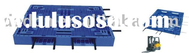 Single face plastic stacking pallet in china(Reinforced in steel tubes
