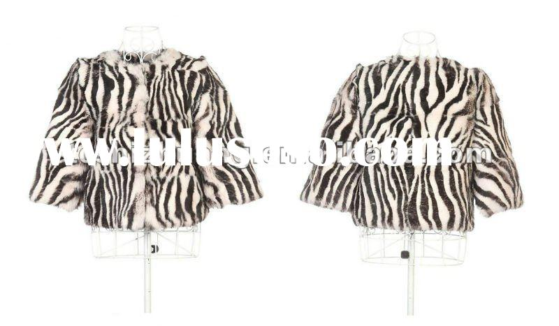 Small MOQ, hot sell 100%rabbit fur european style coats for women