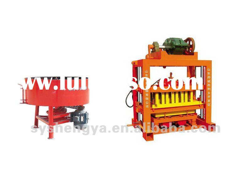 Small manual wooden pallet block making machine QTJ4-40B Hollow block machine/solid brick machine