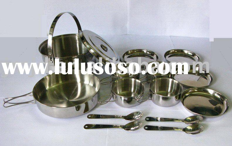 Stainless Steel Camping cook set of Four people