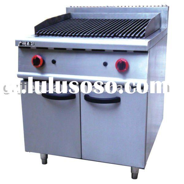 Stainless Steel Gas Charcoal Grill with Cabinet(GH-989)