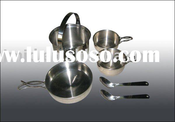 Stainless Steel Outdoor cookware of Two people