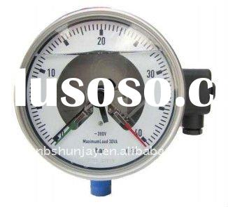 Stainless steel electric contact pressure gauge