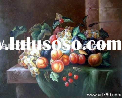 Still life oil painting(Classical canvas art)