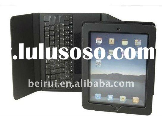 Stylish 4 Colors Bluetooth Keyboard With Folding PU Leather Case For Ipad 2