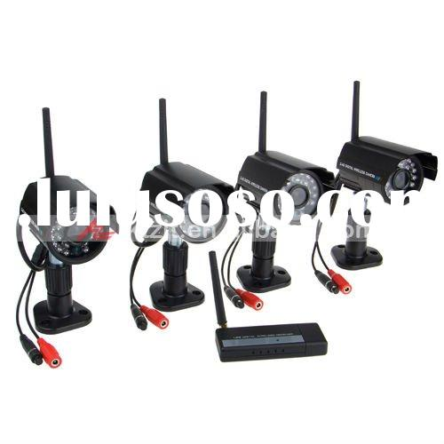 Surveillance Security 4 Channel Waterproof Outdoor Wireless Camera System Kit With Night Vision