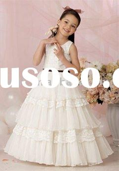 Sweet tulle lace flower girl dress kids gowns childern skirts for wedding and special occasions FG06