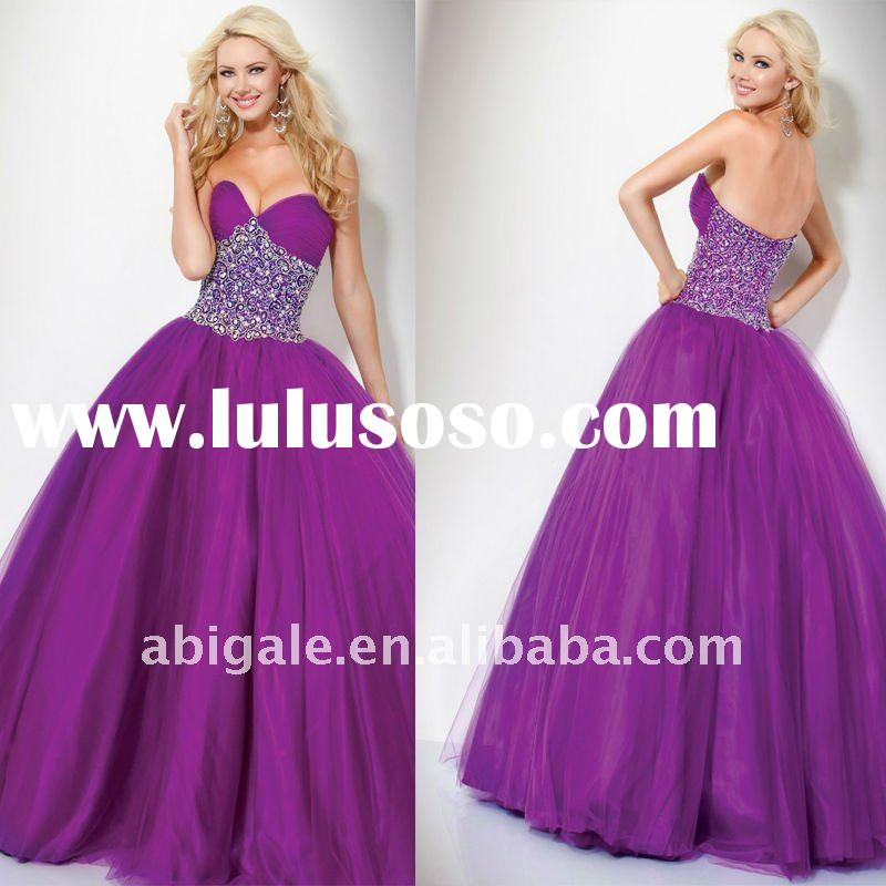 Sweetheart Beading Embroidered Ball Gown Prom Dresses 2012