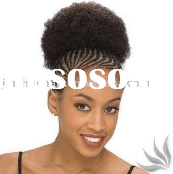 Synthetic afro style hair Pieces Clips Insides