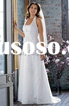 TMT1266 Halter all-over lace sheath with beaded embroidery plus size wedding dress popular wedding d