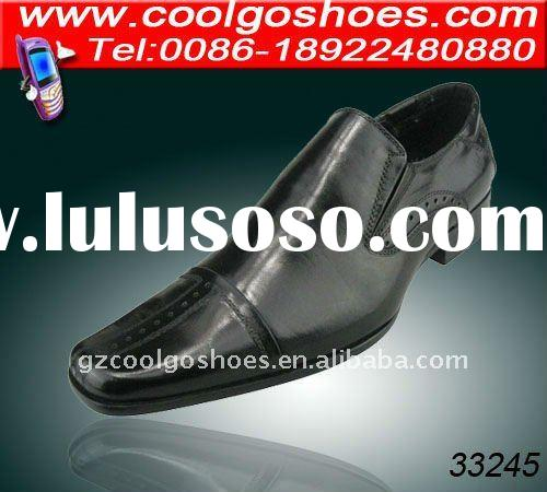 The best quality Italian style genuine leather shoes men from Guangzhou shoes factory