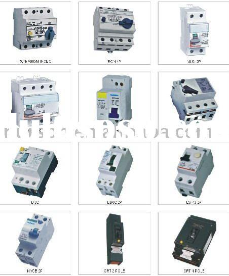 Thermal over current current circuit breaker types current overload electrical circuit breaker(RCD,
