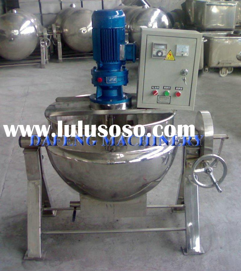 Tilting electric heating jacketed kettle