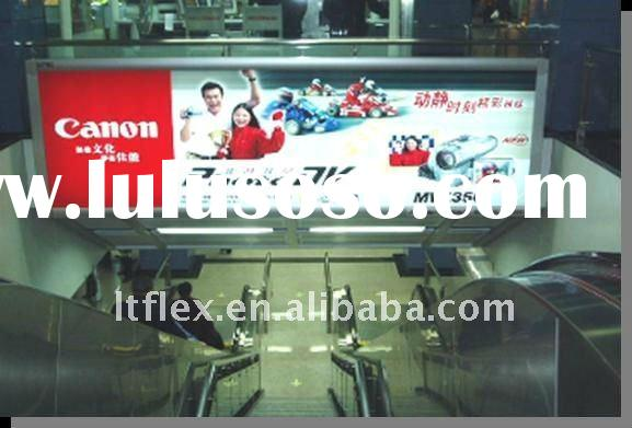 Translucent waterproof backlit flex banner,/ pvc plastic plate/advertising materials/pvc printing pa