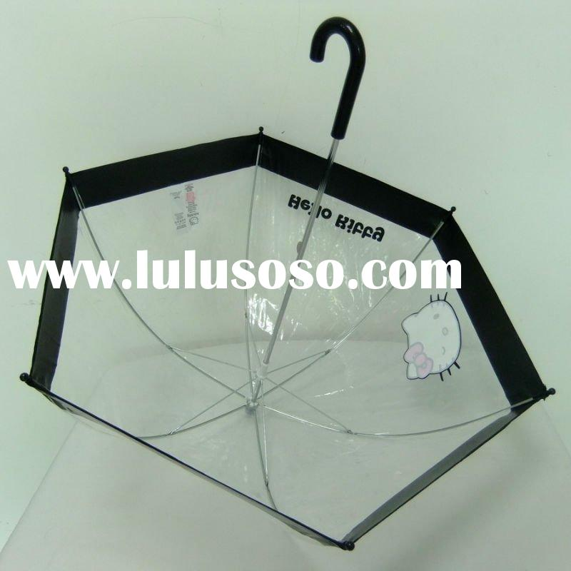 Transparent Umbrella for Children with Lovely Printing
