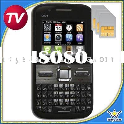 Tri Sim Cell Phone TV Q5 with Double TF Card Slot