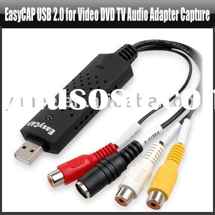 USB Video Grabber USB 2.0 for Video DVD TV Audio Adapter Capture,YHA-PC043