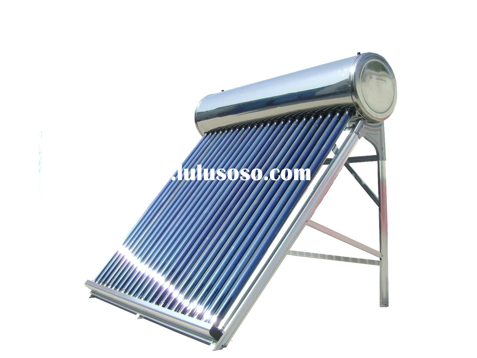 Unpressure solar water heater ,stainless steel solar water heater