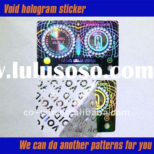 VOID hologram sticker Void label