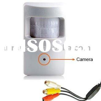 "Video/Audio 520tvl 1/3"" Sony Color CCD Motion Detector pinhole Hidden CCTV Camera"