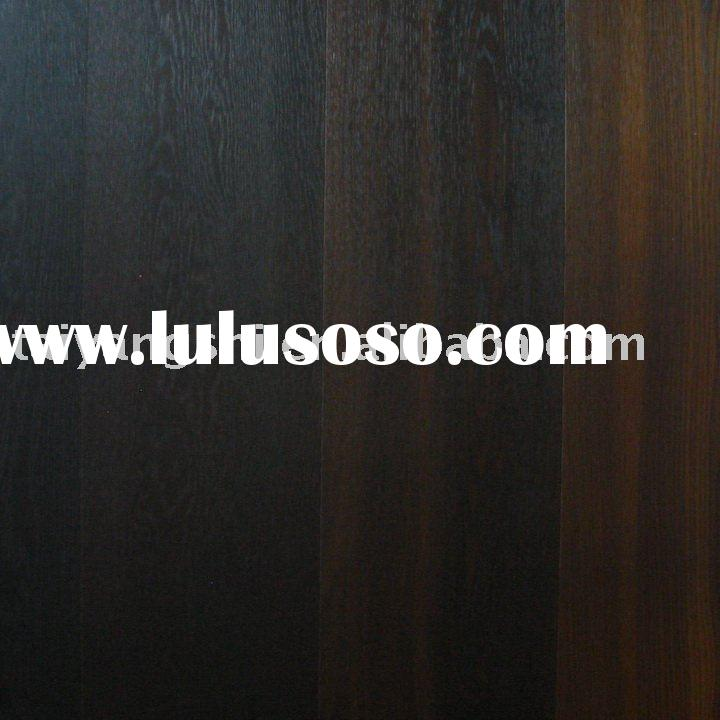 White Oak carbonized wood flooring with Natural Oiled